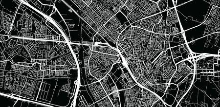 Urban vector city map of Utrecht, The Netherlands Illustration