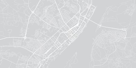 Urban vector city map of Volgograd, Russia