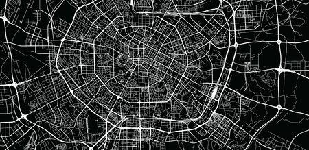 Urban vector city map of Chengdunear, China Çizim