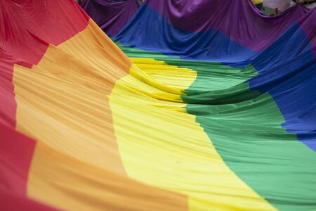 Gay pride, LGBTQ rainbow flag