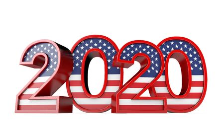 2020 United States of America Presidential Election sign. 3D Rendering