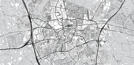 Urban vector city map of Breda, The Netherlands Ilustração