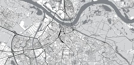 Urban vector city map of Nijmegen, The Netherlands Vektoros illusztráció