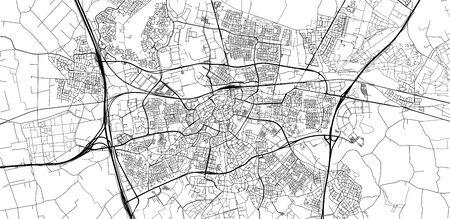 Urban vector city map of Breda, The Netherlands Иллюстрация