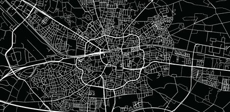 Urban vector city map of Enschede, The Netherlands