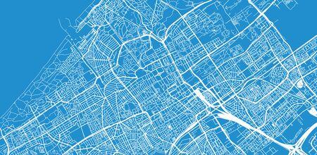 Urban vector city map of The Hague, The Netherlands Иллюстрация
