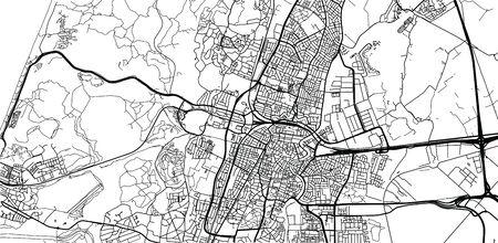 Urban vector city map of Haarlem, The Netherlands Ilustração