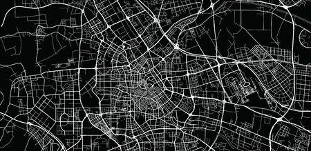 Plan de la ville de vecteur urbain de Tianjin, Chine