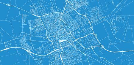 Stedelijke vector stadsplattegrond van Groningen, Nederland