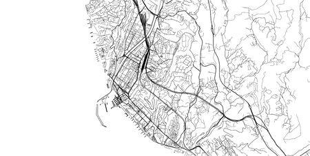 Urban vector city map of sochi, Russia