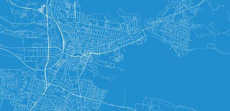 Urban vector city map of Horsen, Germany