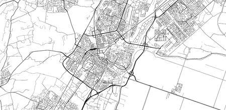 Urban vector city map of Alkmaar, The Netherlands Stock Illustratie