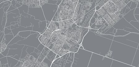 Urban vector city map of Alkmaar, The Netherlands 矢量图像