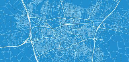 Urban vector city map of Breda, The Netherlands Stock Illustratie