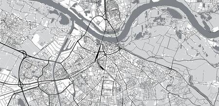Urban vector city map of Nijmegen, The Netherlands
