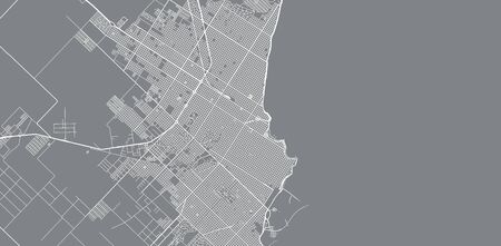 Urban vector city map of Mar Del Plata, Argentina