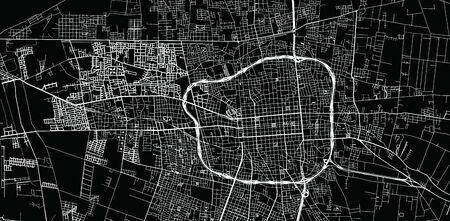 Urban vector city map of San Juan, Argentina Stok Fotoğraf - 134754632