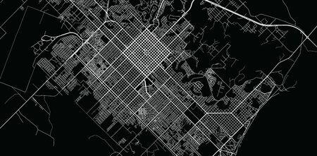 Urban vector city map of Resistencia, Argentina Stok Fotoğraf - 134754634