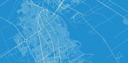 Urban vector city map of Santiago del Estero, Argentina Stok Fotoğraf - 134754696