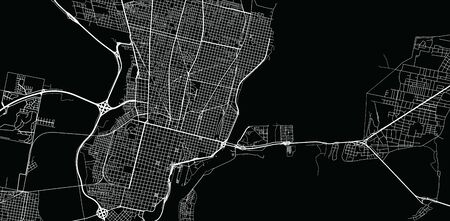 Urban vector city map of Santa Fe, Argentina
