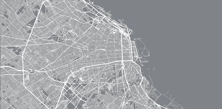 Urban vector city map of Buenos Aires, Argentina  イラスト・ベクター素材