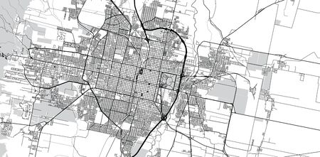 Urban vector city map of San Miguel de Tucuman, Argentina