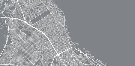 Urban vector city map of Vicente Lopez, Argentina