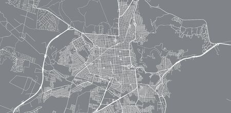 Urban vector city map of Salta, Argentina  イラスト・ベクター素材