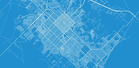 Urban vector city map of Resistencia, Argentina