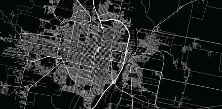 Urban vector city map of San Miguel de Tucuman, Argentina Stok Fotoğraf - 134754493