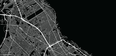 Urban vector city map of Vicente Lopez, Argentina Stok Fotoğraf - 134754497