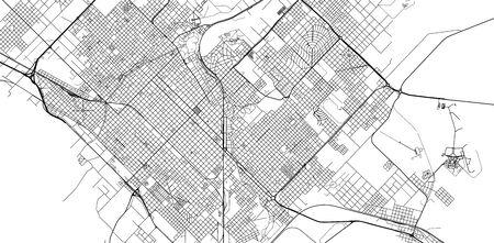 Urban vector city map of Bahia Blanca, Argentina Stok Fotoğraf - 134754498