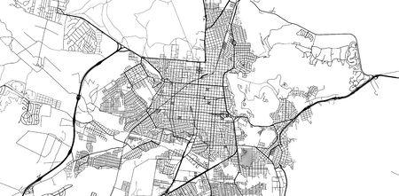 Urban vector city map of Salta, Argentina Stok Fotoğraf - 134754500