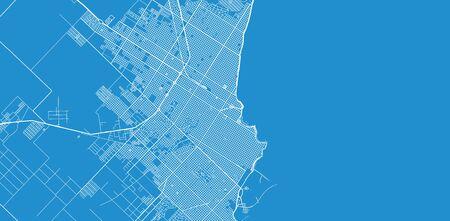 Urban vector city map of Mar Del Plata, Argentina