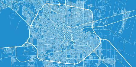 Urban vector city map of Cordoba, Argentina