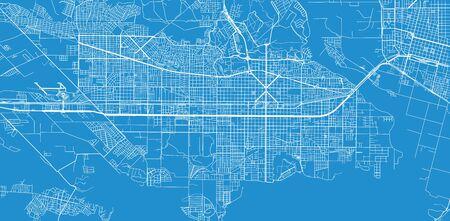 Urban vector city map of neuquen, Argentina Stock Illustratie