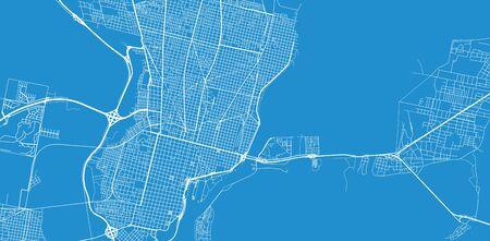 Urban vector city map of Santa Fe, Argentina