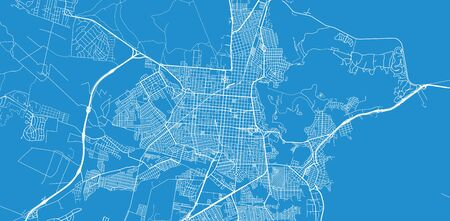 Urban vector city map of Salta, Argentina Stock Illustratie