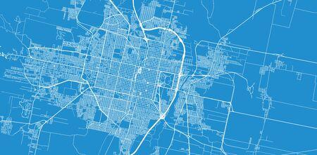 Urban vector city map of San Miguel de Tucuman, Argentina