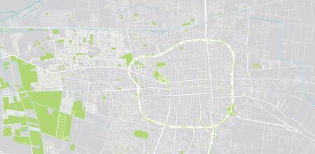 Urban vector city map of San Juan, Argentina Illustration