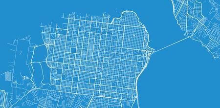 Urban vector city map of Posadas, Argentina Vektoros illusztráció