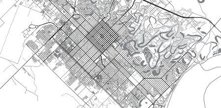 Urban vector city map of Resistencia, Argentina