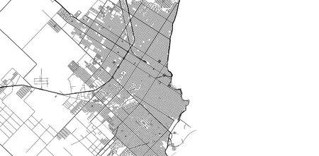 Urban vector city map of Mar Del Plata, Argentina Vektoros illusztráció