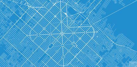 Urban vector city map of La Plata, Argentina