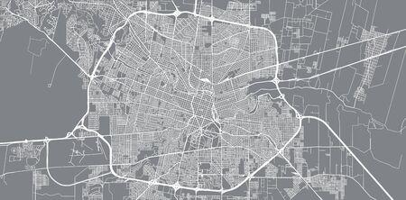Städtischer Vektorstadtplan von Cordoba, Argentinien