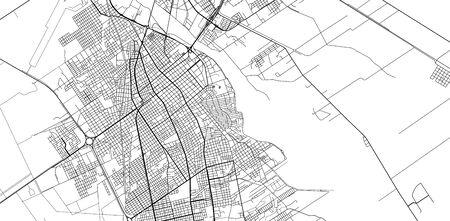 Urban vector city map of Santiago del Estero, Argentina