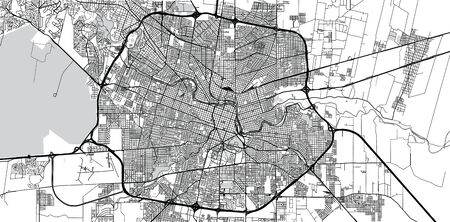 Urban vector city map of Cordoba, Argentina Ilustracje wektorowe