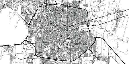 Mapa miasta wektor miejskich Kordoba, Argentyna