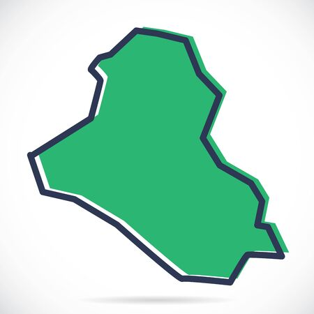Stylized simple outline map of Iraq Vector Illustratie