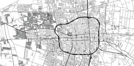 Urban vector city map of San Juan, Argentina Stock Illustratie